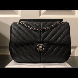 Brand New Small Black Caviar Flap